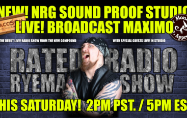 NRG SOUND PROOF STUDIO LIVE! BROADCAST MAXIMO – THIS SATURDAY NIGHT!