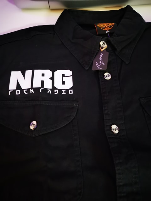 "The ""NRG Rocker Original"" Cut-Off Work Shirt (Vinyl)"