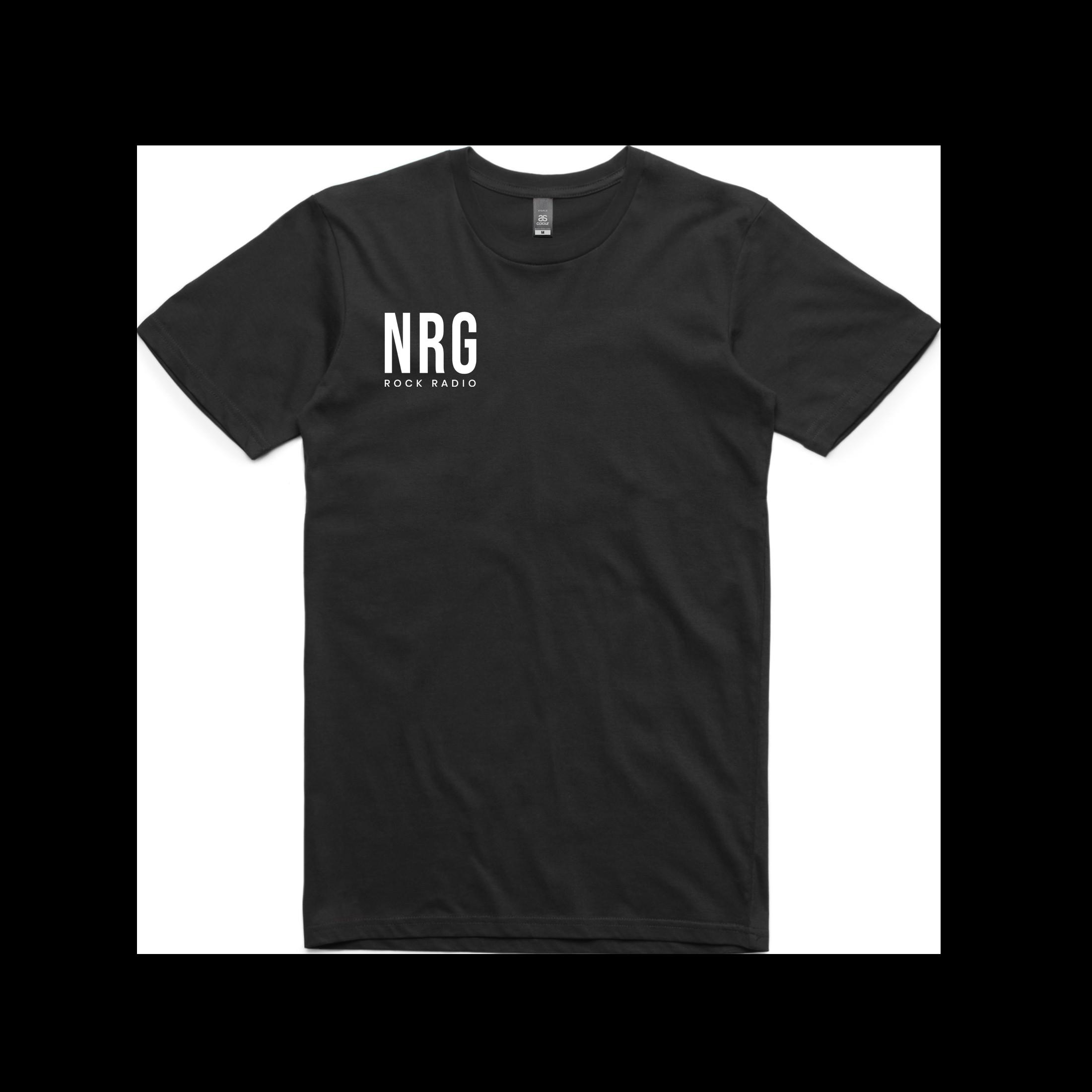 NRG Rock Radio Font - Logo Tee